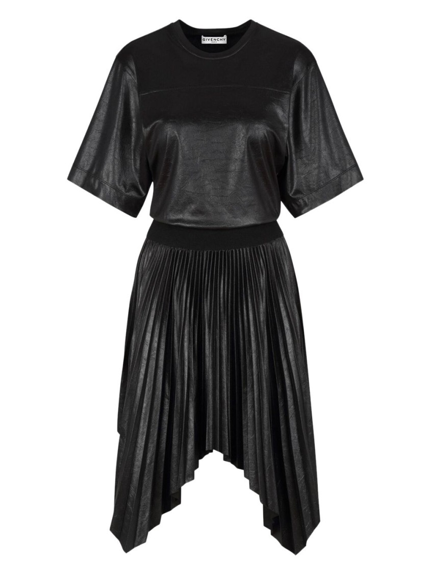 GIVENCHY PLEATED VARNISHED DRESS