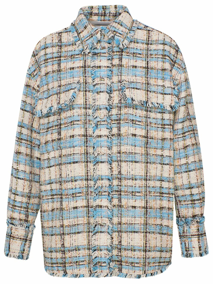 Msgm Shirts MULTICOLOR COTTON SHIRT