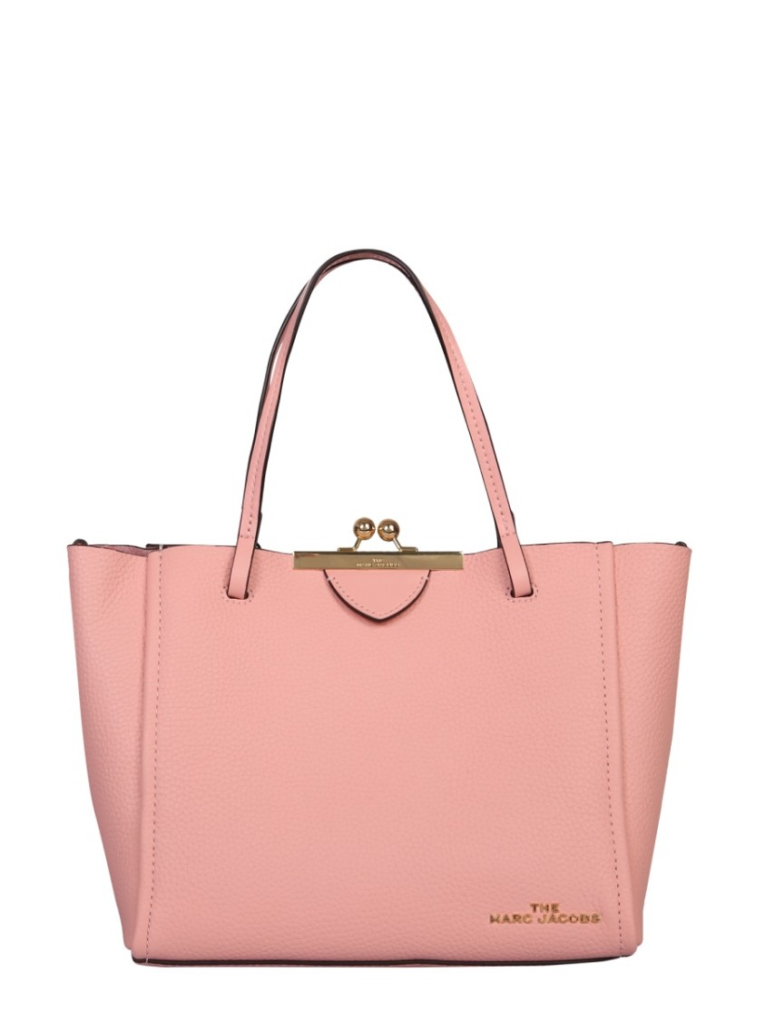 Marc Jacobs MINI KISS PINK LEATHER TOTE