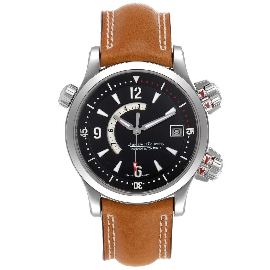 Jaeger-lecoultre Master Compressor Memovox Watch 146.8.97 Q1708470 Papers In Brown