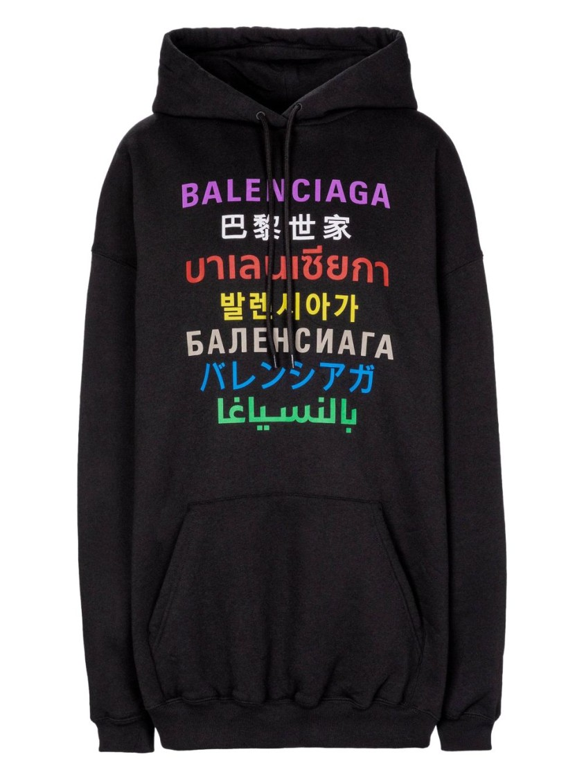 Balenciaga MEDIUM FIT LANGUAGES HOODIE