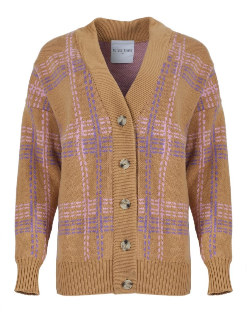 Valentine Witmeur CAMEL BROWN CALLIGRAPHIST CARDIGAN