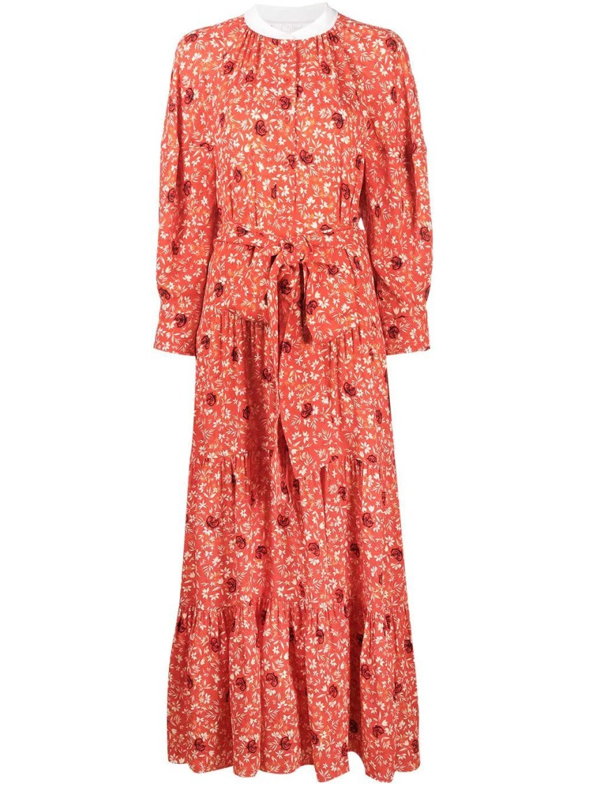 Chloé BUBBLING ORANGE PRINT DRESS