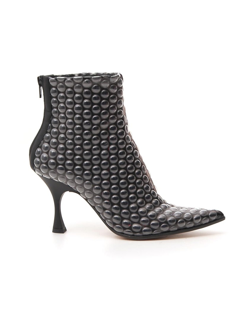 Mm6 Maison Margiela Black Leather Ankle Boots