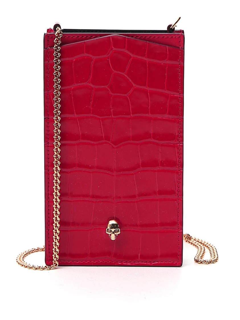 Alexander Mcqueen RED LEATHER COVER