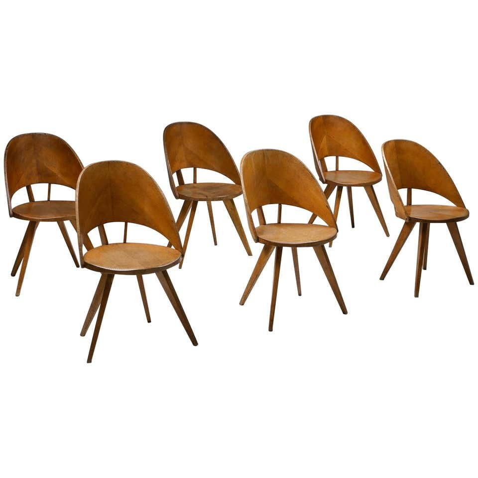Italian Plywood Dining Chairs, 1940S
