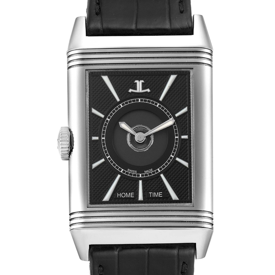Jaeger-lecoultre Reverso Classic Large Duoface Day Night Steel Mens Watch 215.8.s9 Q3838420 In Not Applicable