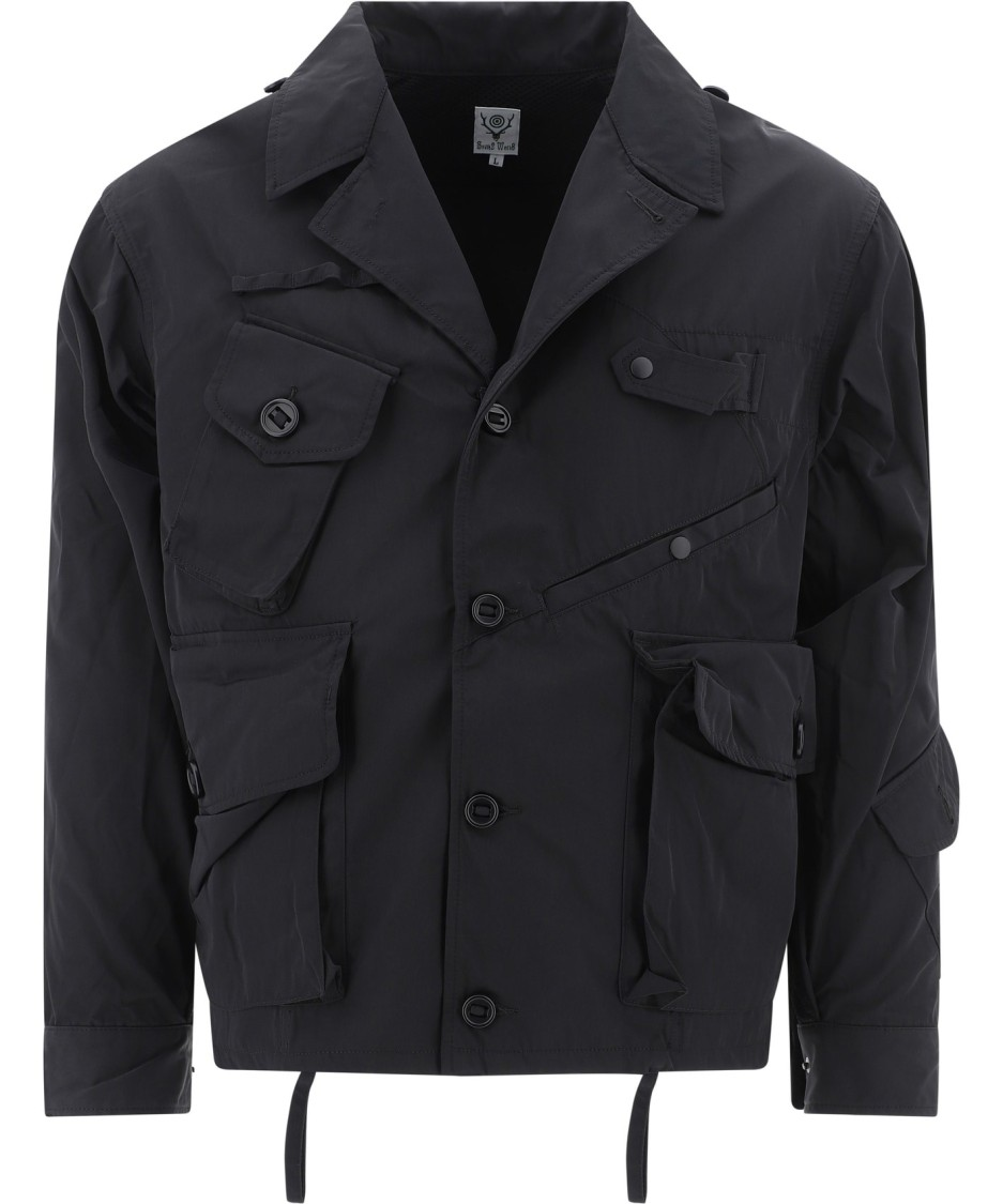 South2 West8 Black Polyester Outerwear Jacket