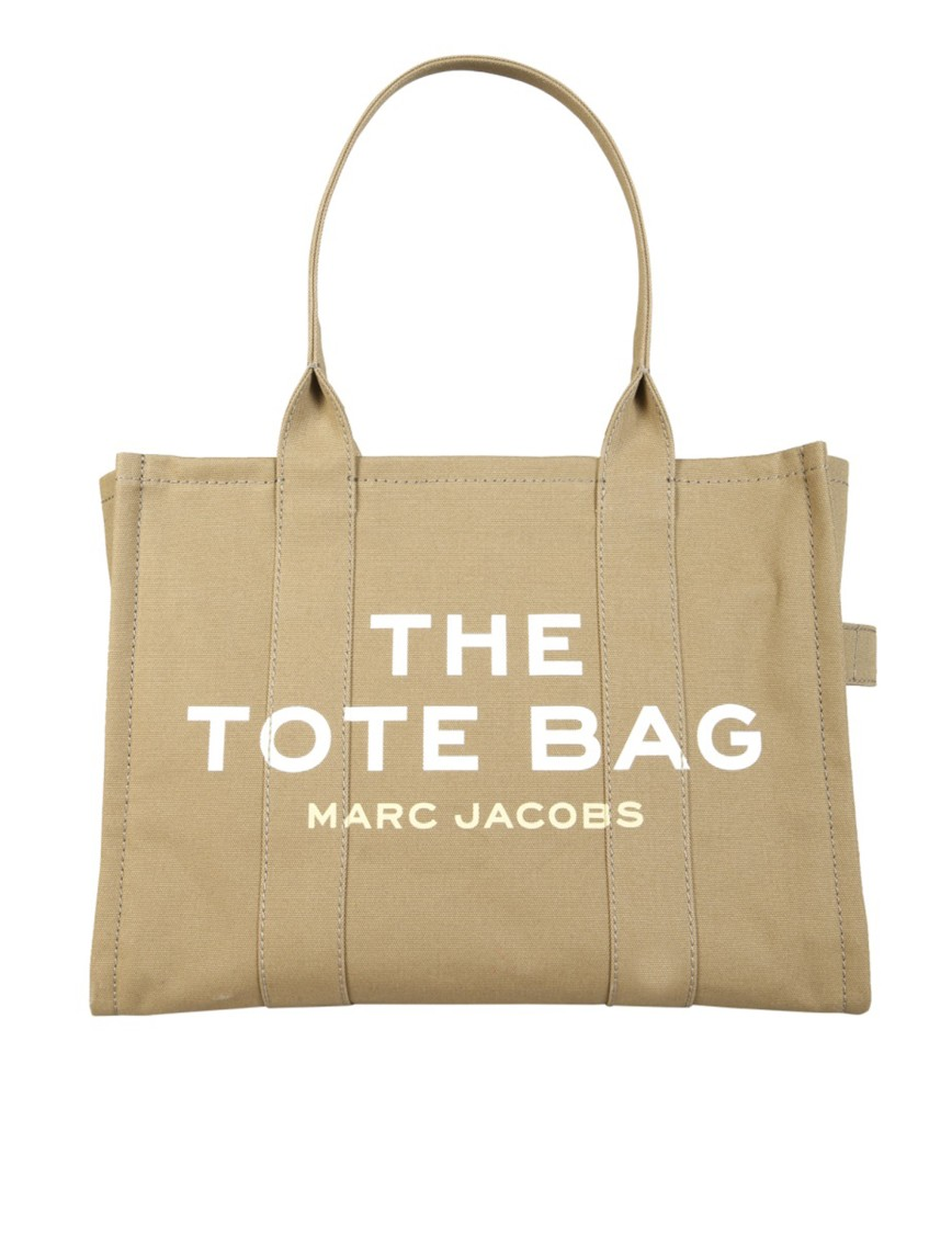 Marc Jacobs The Traveler Beige Cotton Tote In Neutrals
