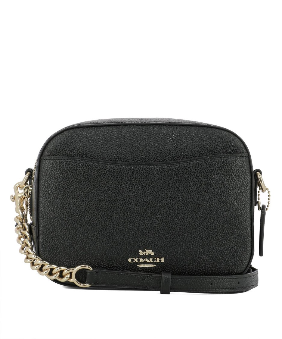 Coach BLACK LEATHER SHOULDER BAG