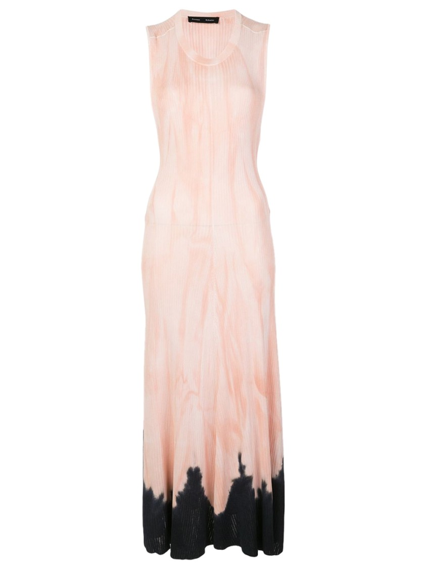 Proenza Schouler PINK AND BLACK TIE-DYE DRESS