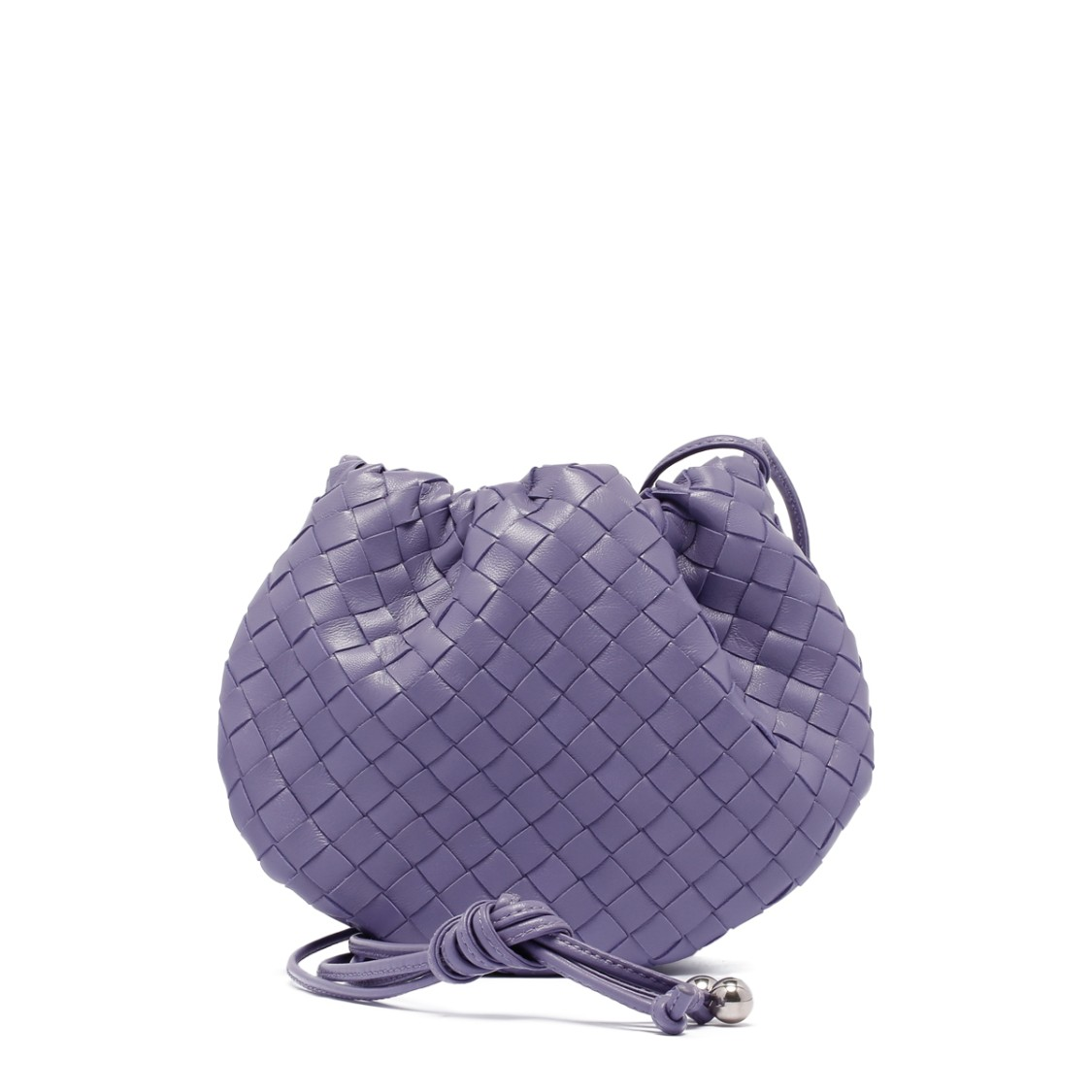 Bottega Veneta Lavender Intrecciato Nappa Leather The Mini Bulb Bag In Purple