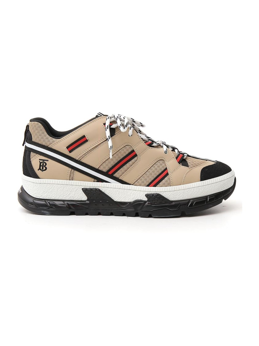 BURBERRY BEIGE LEATHER SNEAKERS