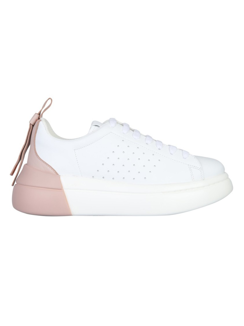 Red Valentino BOWALK WHITE LEATHER SNEAKERS