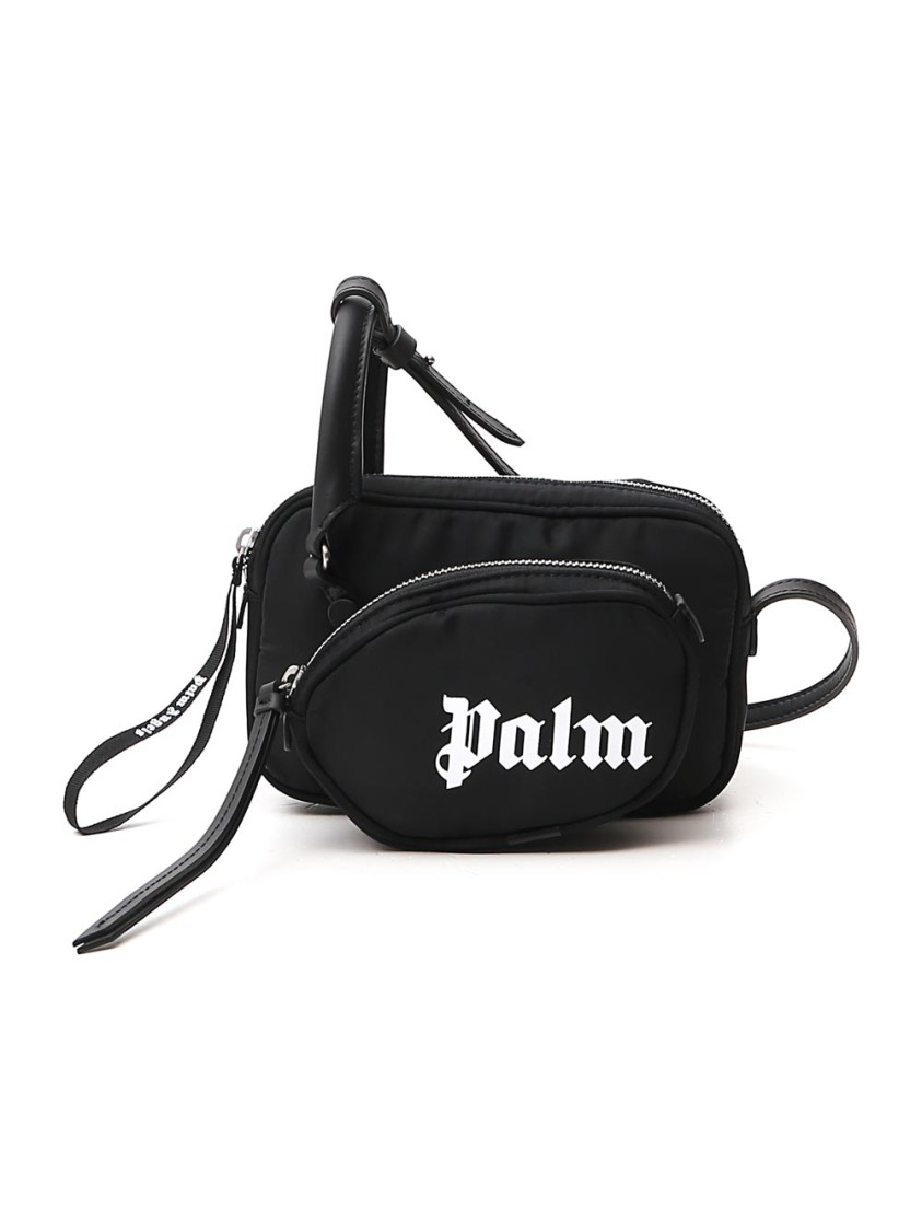 Palm Angels Black Nylon Shoulder Bag