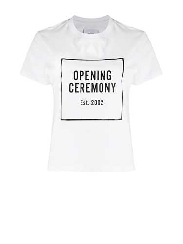 Opening Ceremony WHITE T-SHIRT LOGO BOX