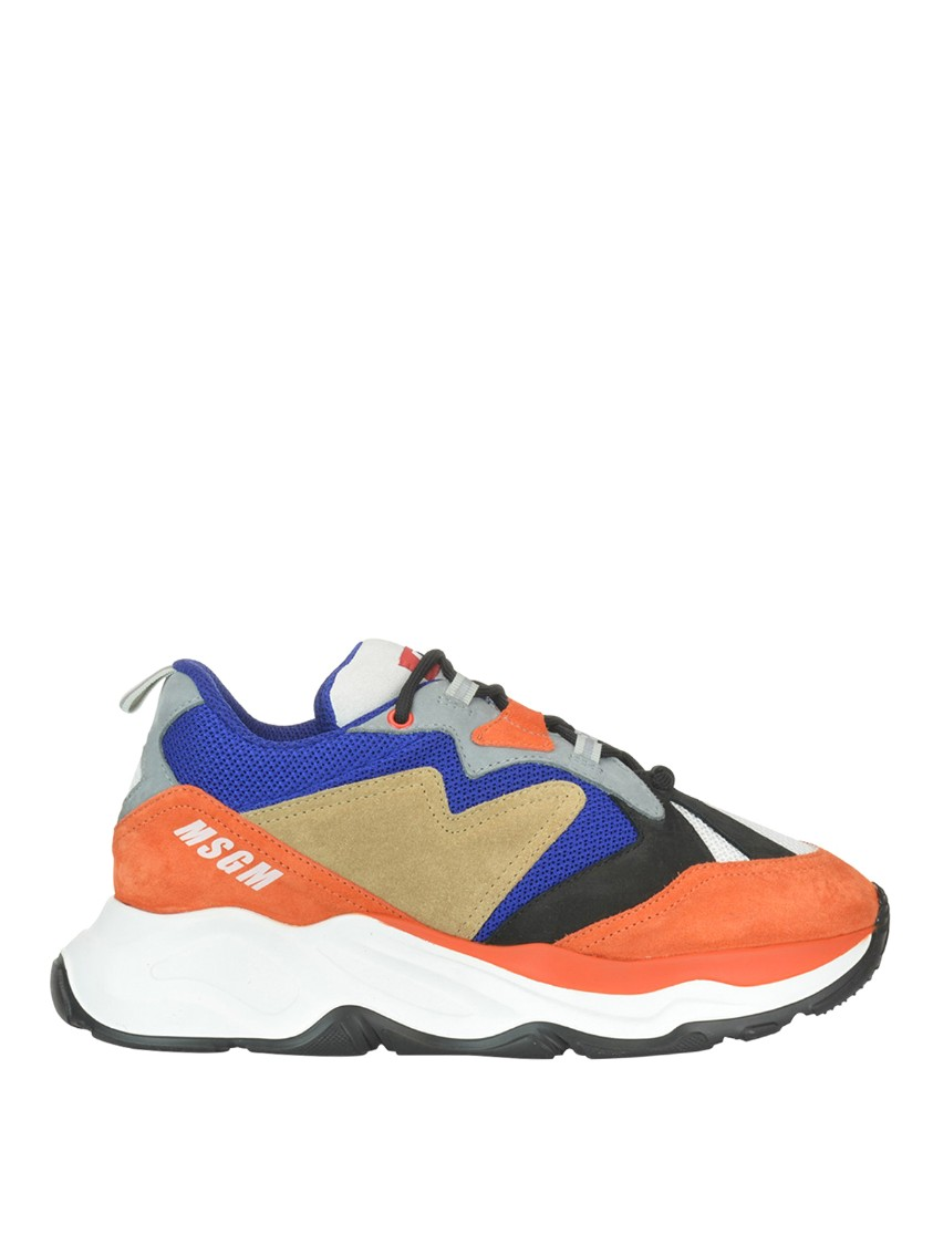 Msgm Sneakers ATTACK SUEDE AND TECH MESH SNEAKERS