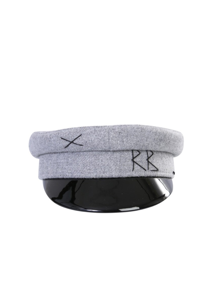 RUSLAN BAGINSKIY BAKER BOY GREY WOOL HAT