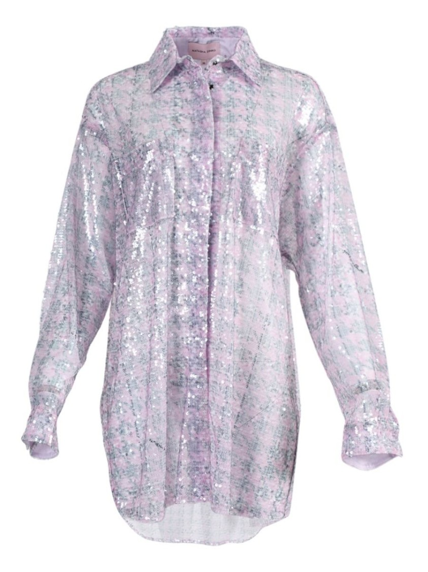 Natasha Zinko LIGHT PINK SEQUIN SHIRT