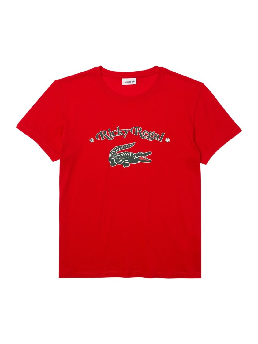 Lacoste X RICKY REGAL LOOSE NECK PRINT COTTON T-SHIRT