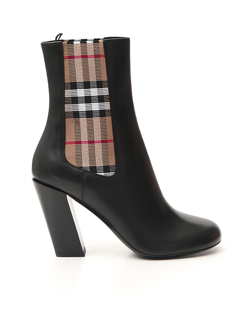Burberry Leathers Black Leather Ankle Boots