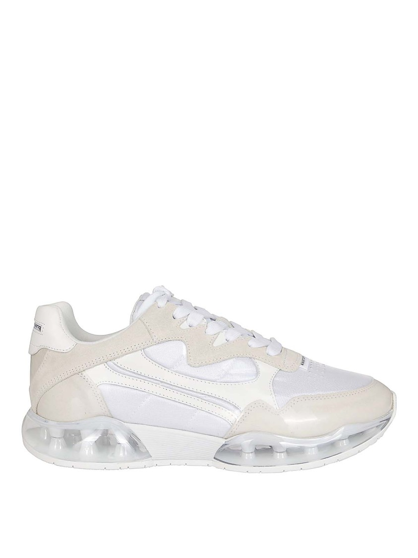 Alexander Wang Suede Stadium Sneakers 40 In White