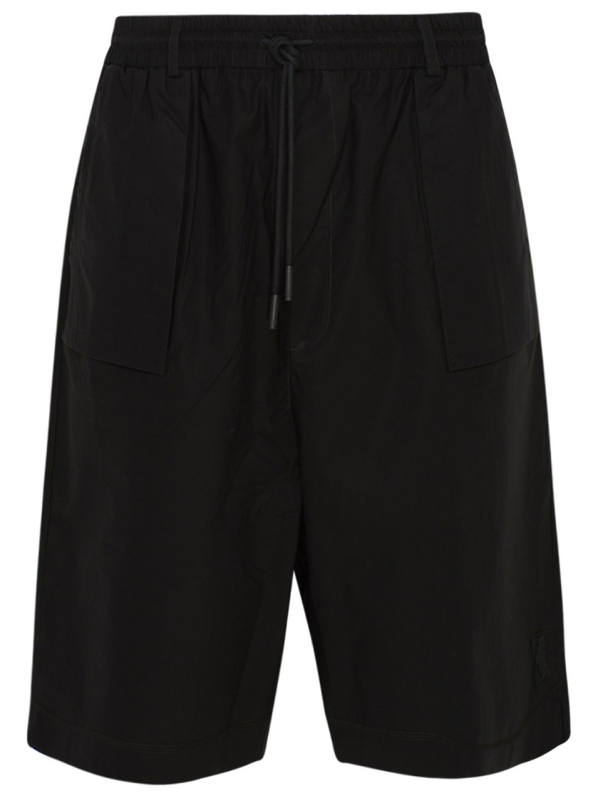 Marcelo Burlon County Of Milan BLACK COTTON SHORTS
