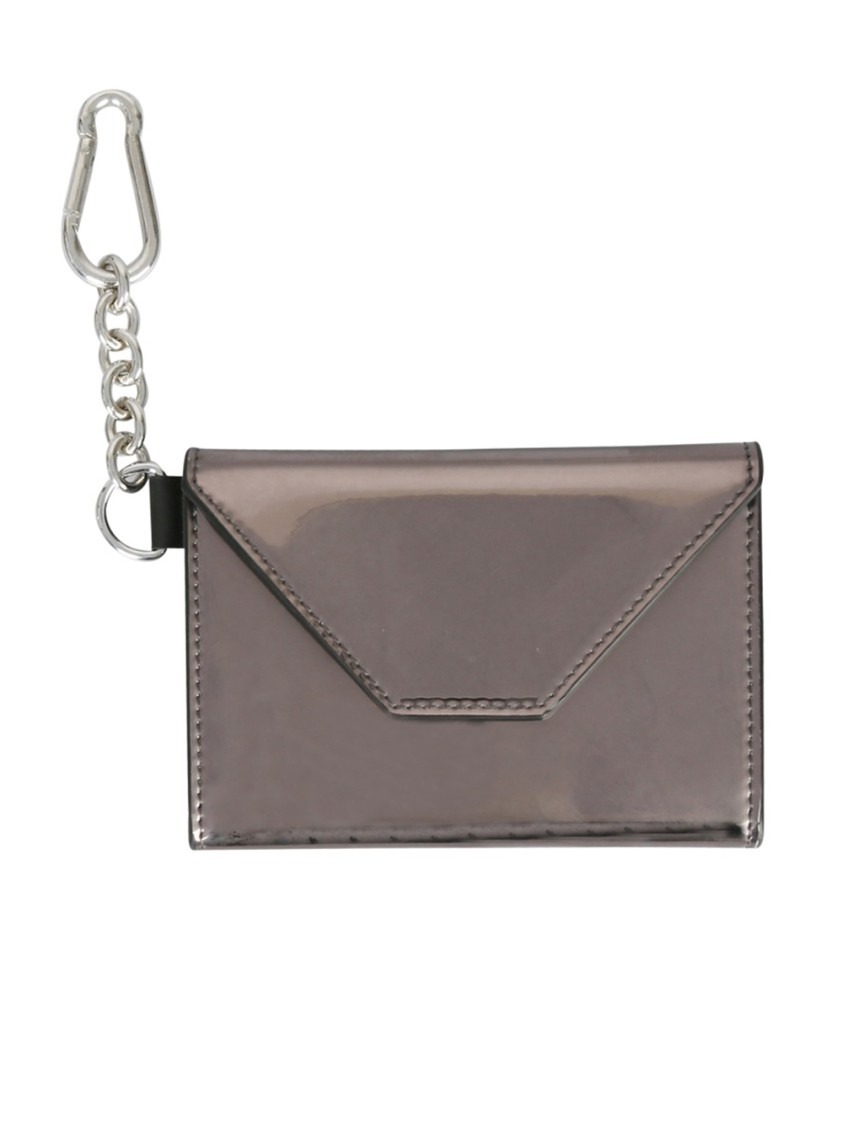 Dsquared2 SILVER LEATHER CARD HOLDER