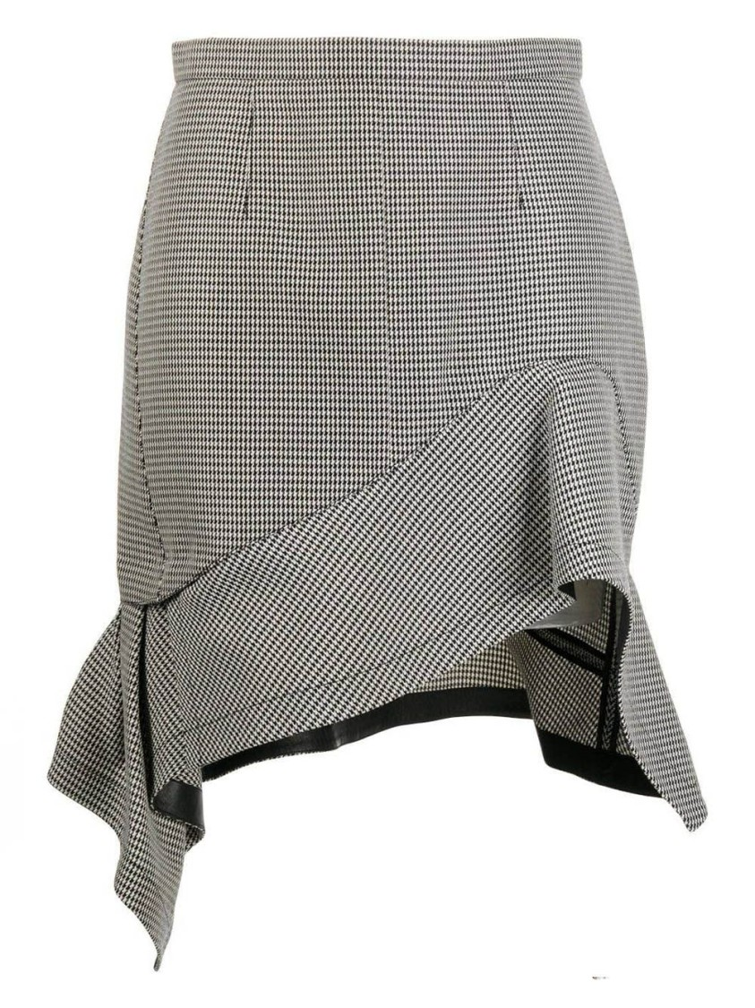 Alexander Wang BLACK AND WHITE DECONSTRUCTED RUFFLE MINI SKIRT