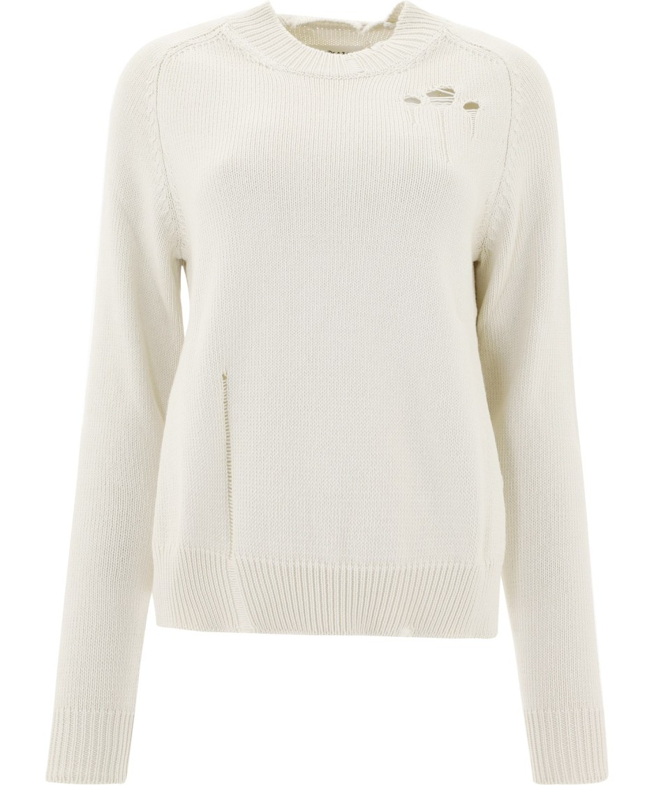 MAISON MARGIELA WHITE COTTON SWEATER