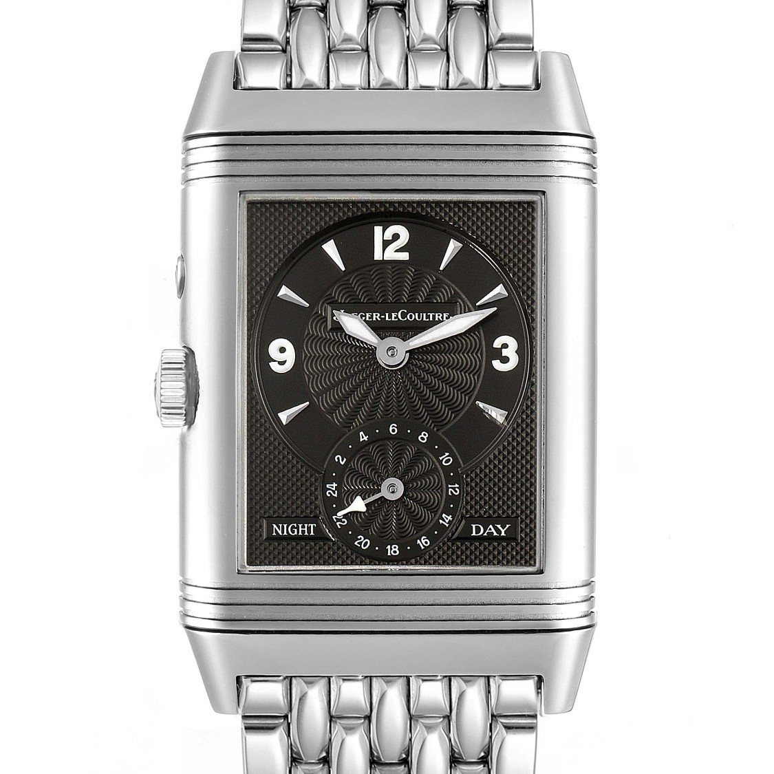 Jaeger-lecoultre Reverso Duo Day Night Steel Watch 270.8.54 Q270854 In Not Applicable