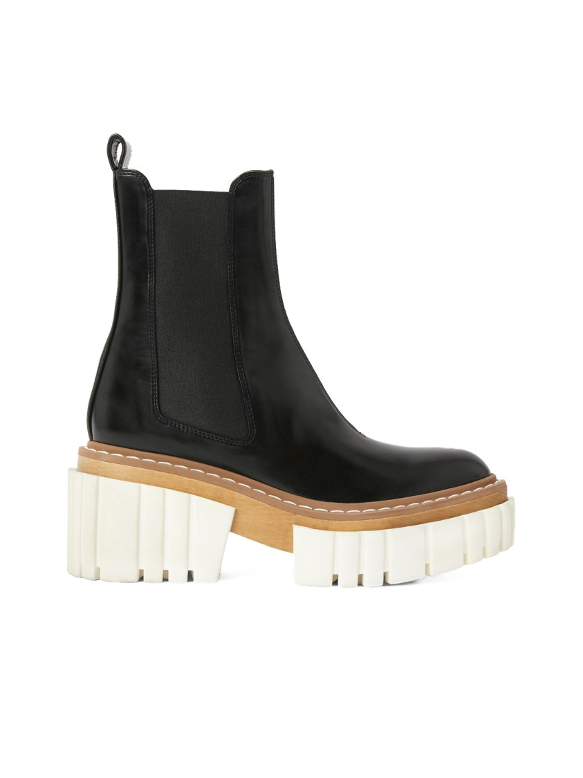 Stella Mccartney Platforms Emilie Black Faux Leather Ankle Boots