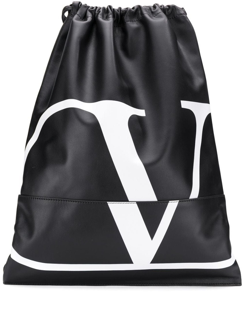 Valentino BLACK LEATHER BACKPACK