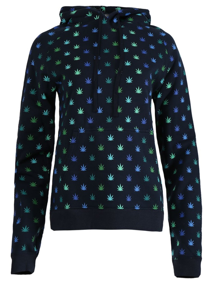 Lhd Cottons X ADAM LIPPES WEED HOODIE, BLUE