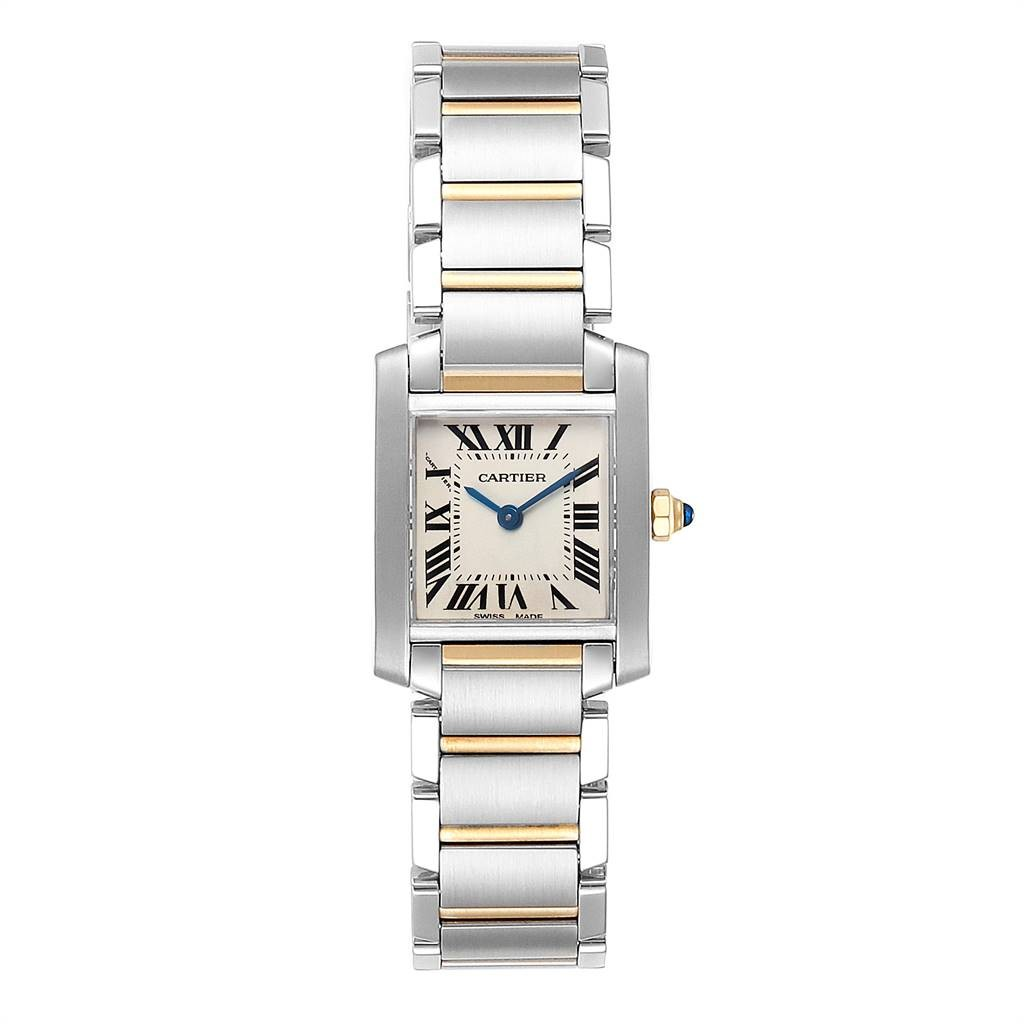 Cartier Tops TANK FRANCAISE STEEL YELLOW GOLD SMALL LADIES WATCH W51007Q4