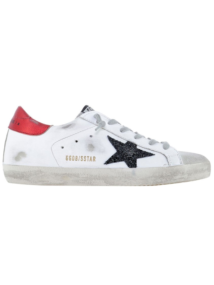 Golden Goose Leathers SUPERSTAR WHITE LEATHER SNEAKERS