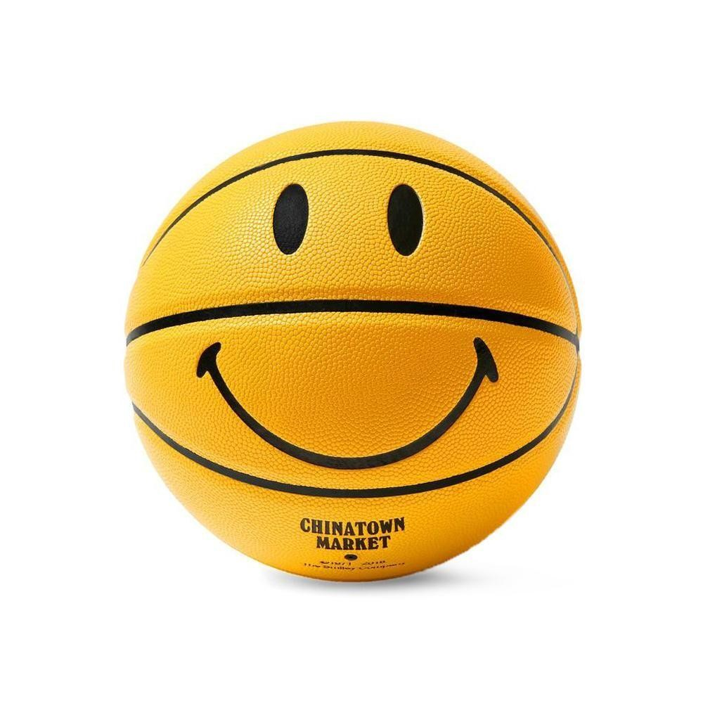 Chinatown Market Accessories SMILEY BASKETBALL (YELLOW)
