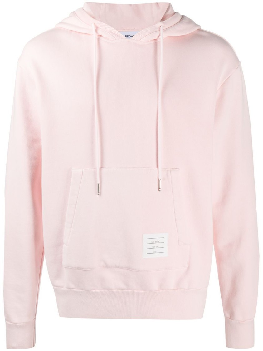 Thom Browne Clothing GARMENT DYED HOODIE PULLOVER