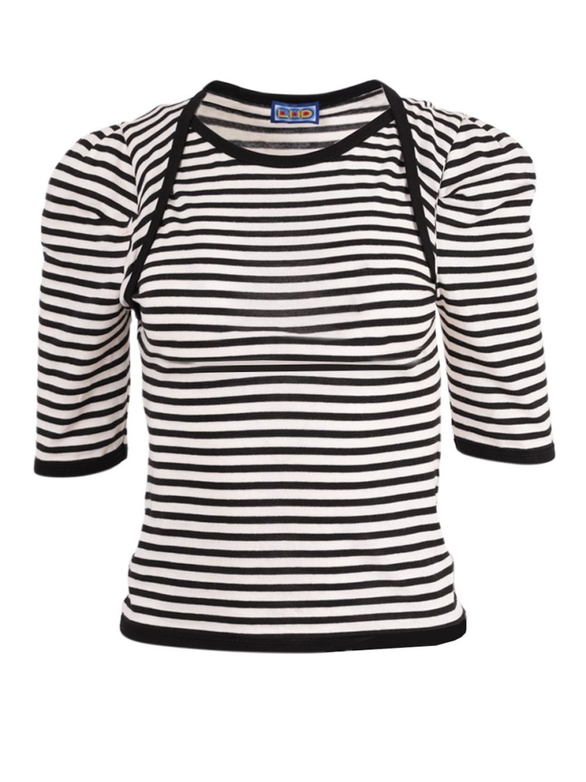 Lhd BLACK AND WHITE EUGENIE TOP