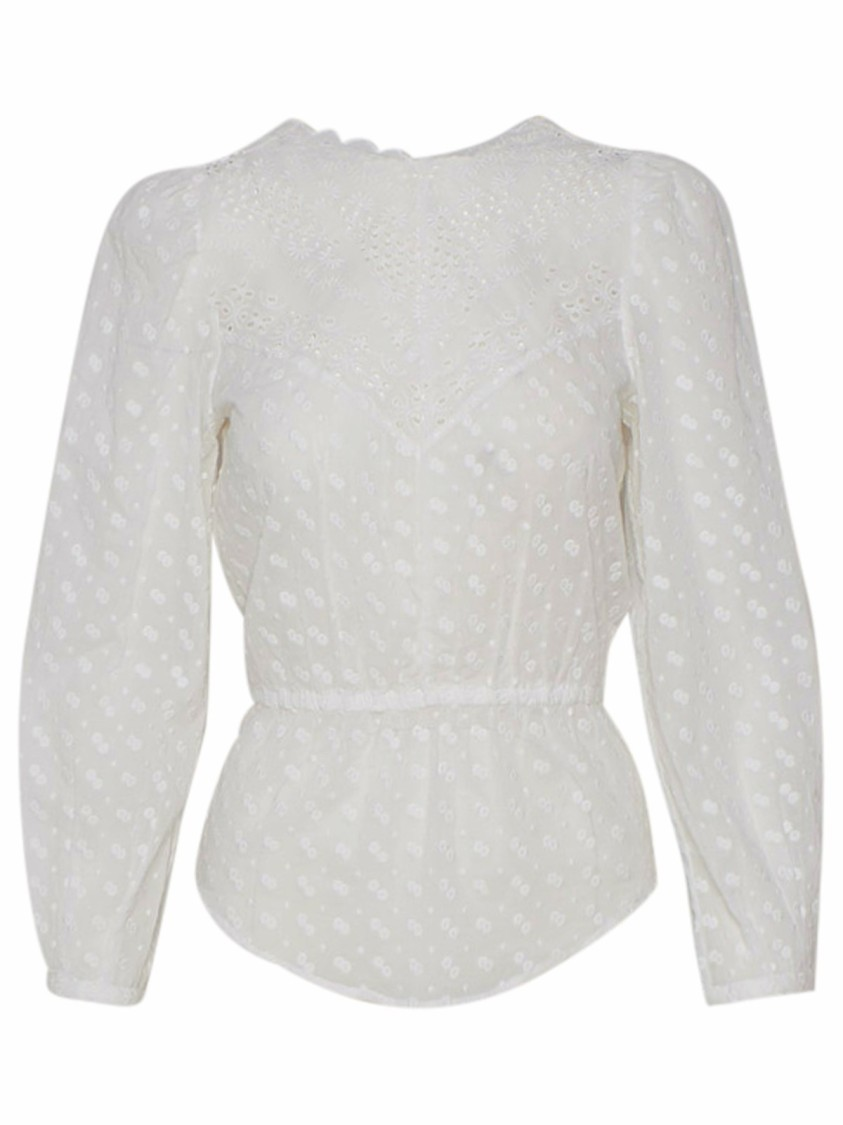 Isabel Marant Étoile WHITE COTTON BLOUSE