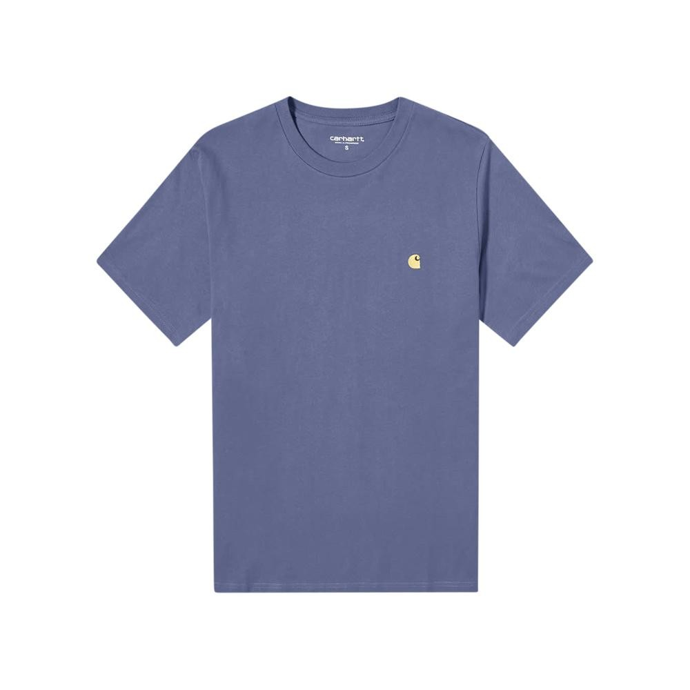 Carhartt Chase Tee (cold Viola/gold) In Blue