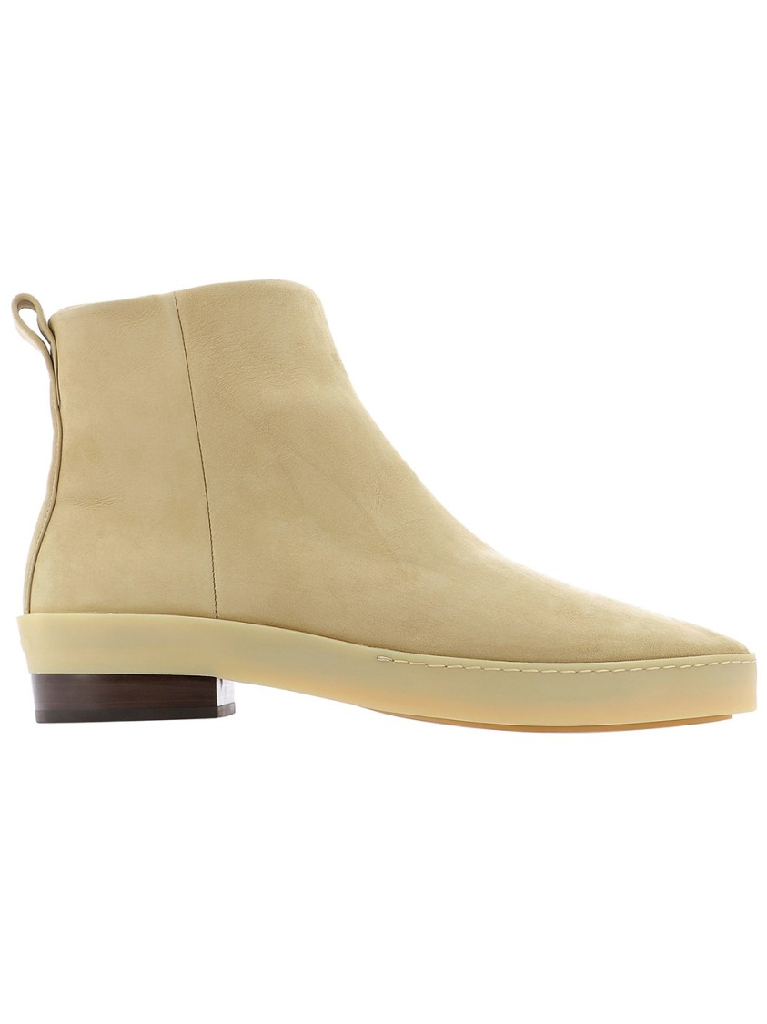Fear Of God BEIGE LEATHER ANKLE BOOTS