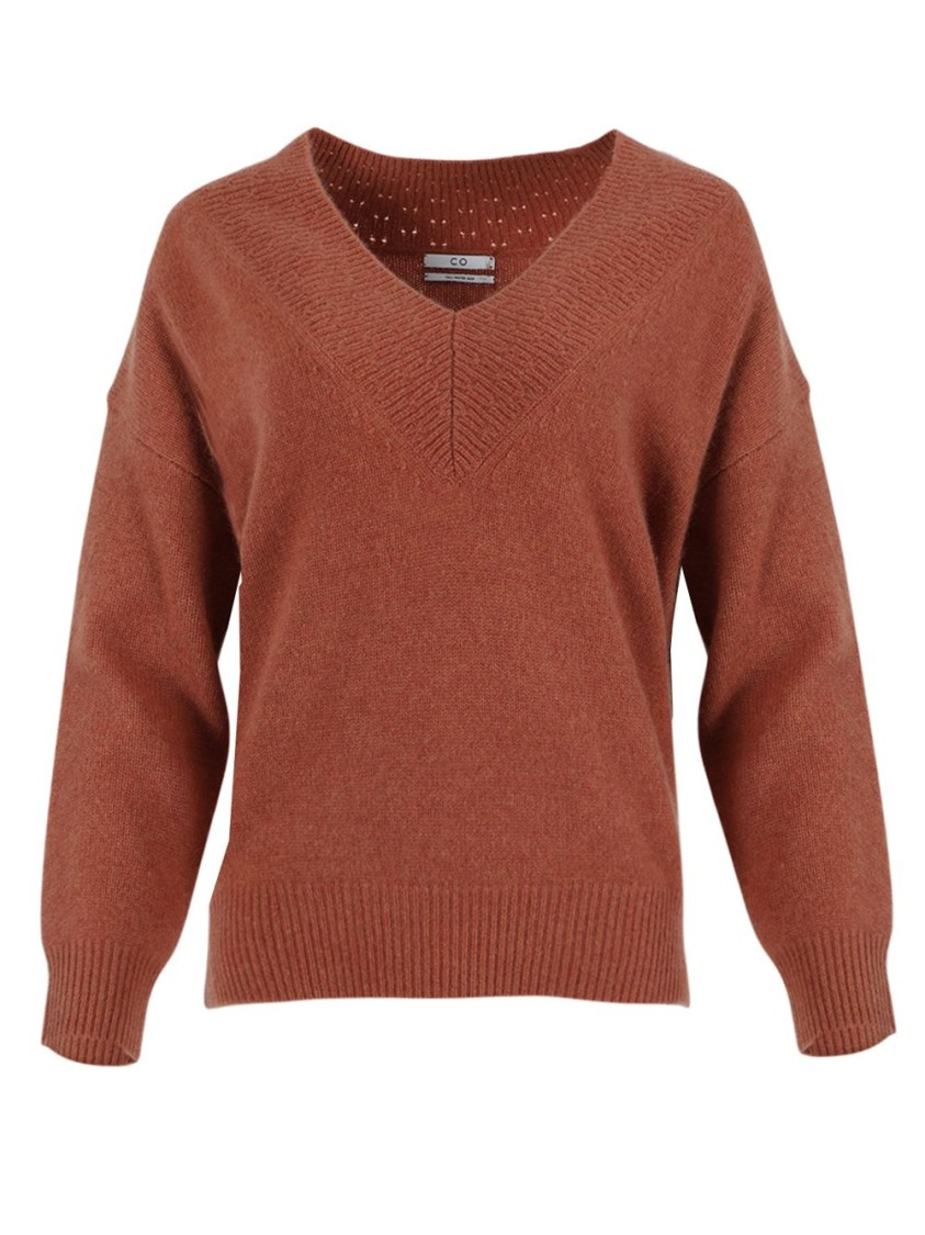 Co PPER-TONE V-NECK SWEATER