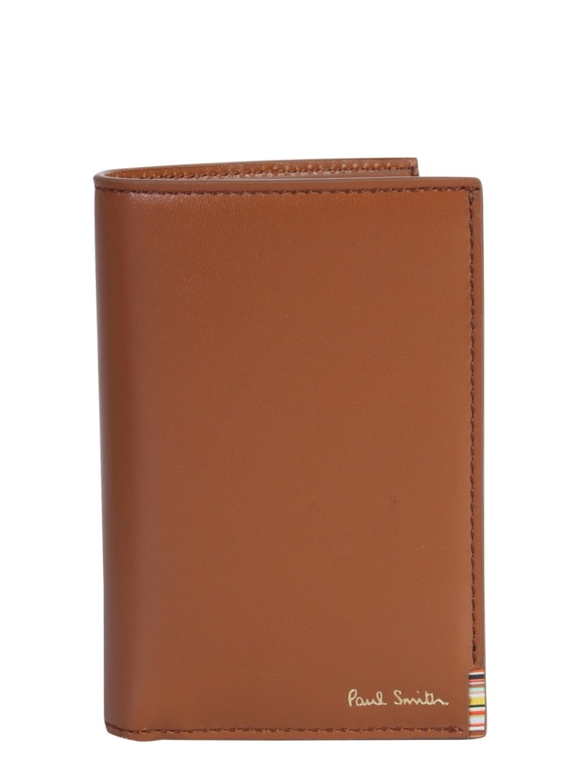 Paul Smith Leather Bi Fold Wallet In Brown