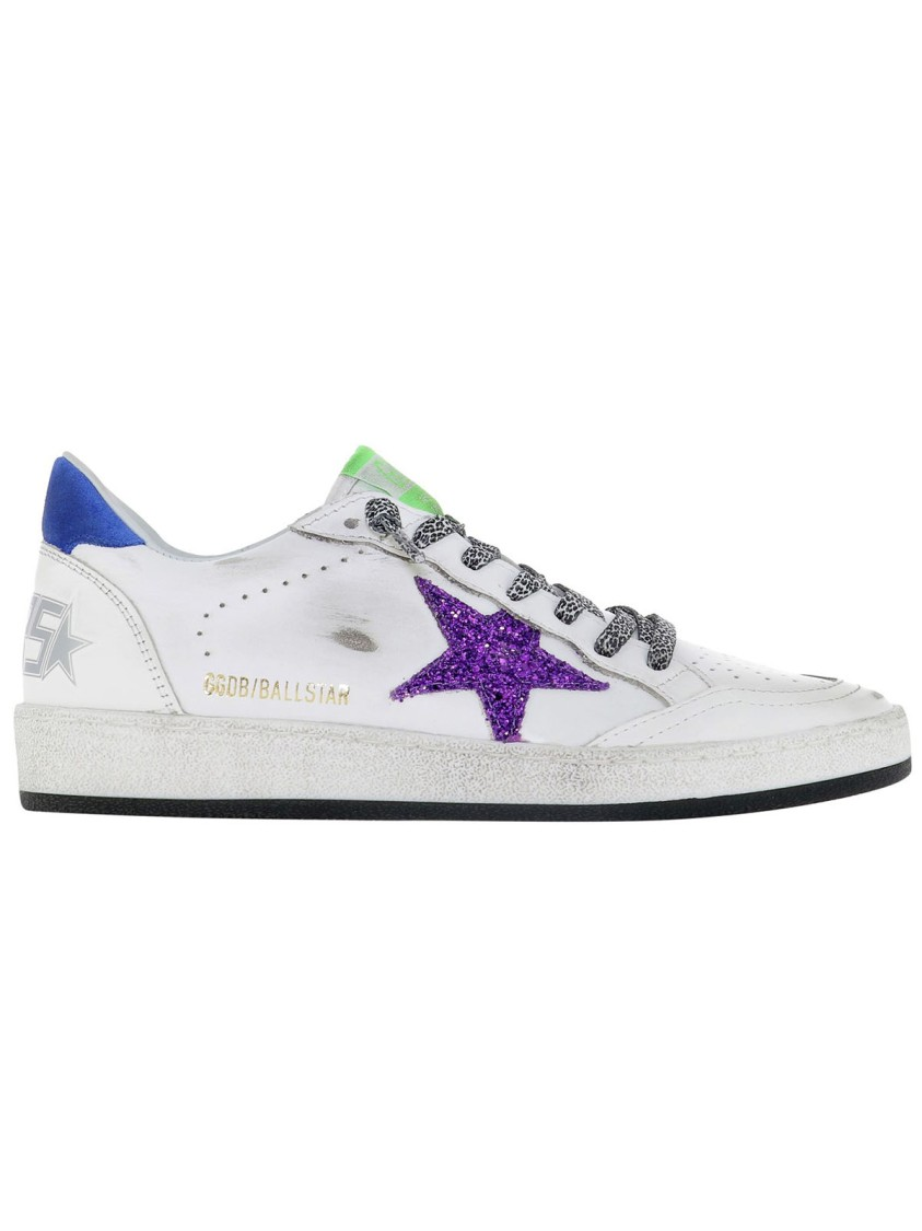 Golden Goose BALL STAR WHITE LEATHER SNEAKERS