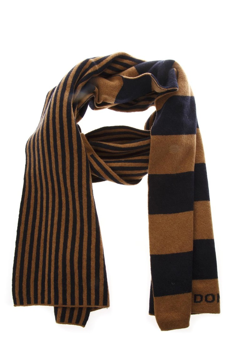 Bicolor Dondup Striped Scarf In Wool Fw 2018