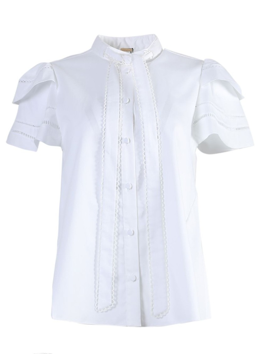 Adam Lippes TRAPEZE FRONT TIE TOP