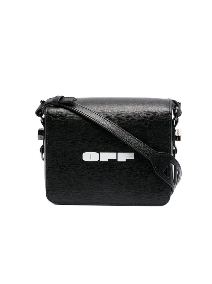 Off-White BLACK LEATHER SHOULDER BAG