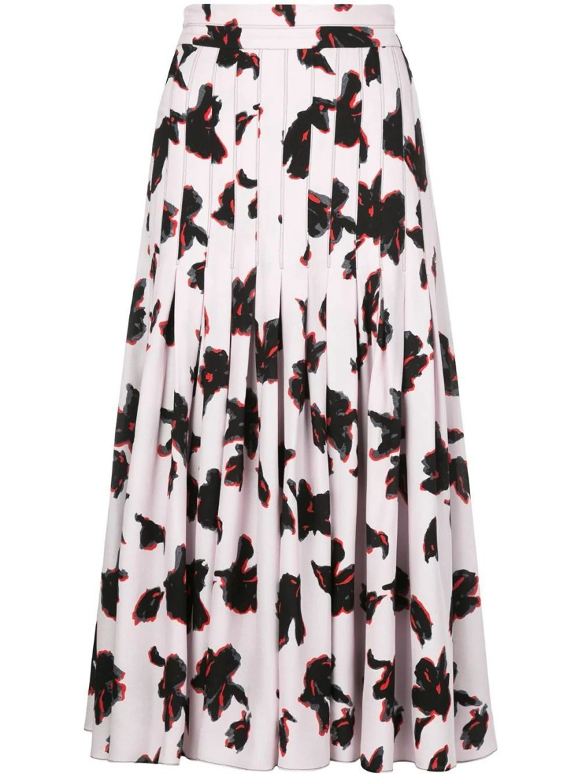 Proenza Schouler IRIS FLORAL PLEATED SKIRT