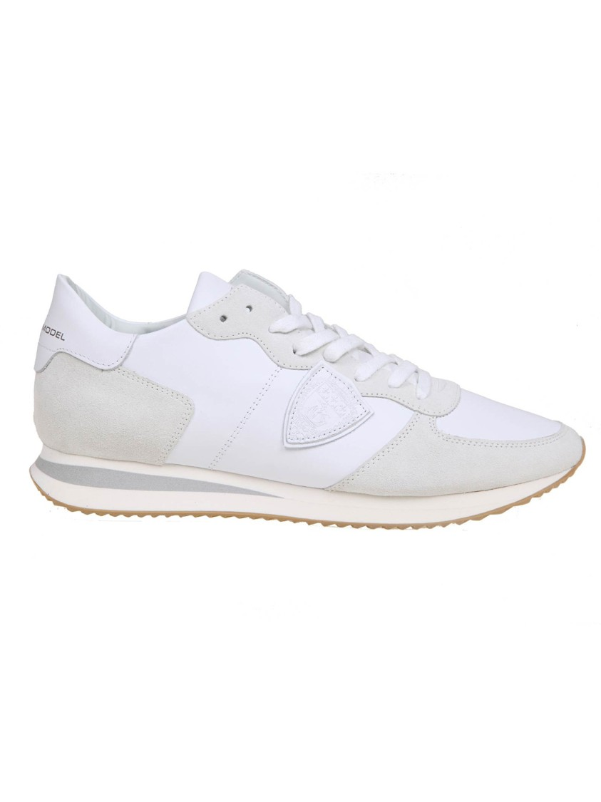 Philippe Model WHITE LEATHER SNEAKERS